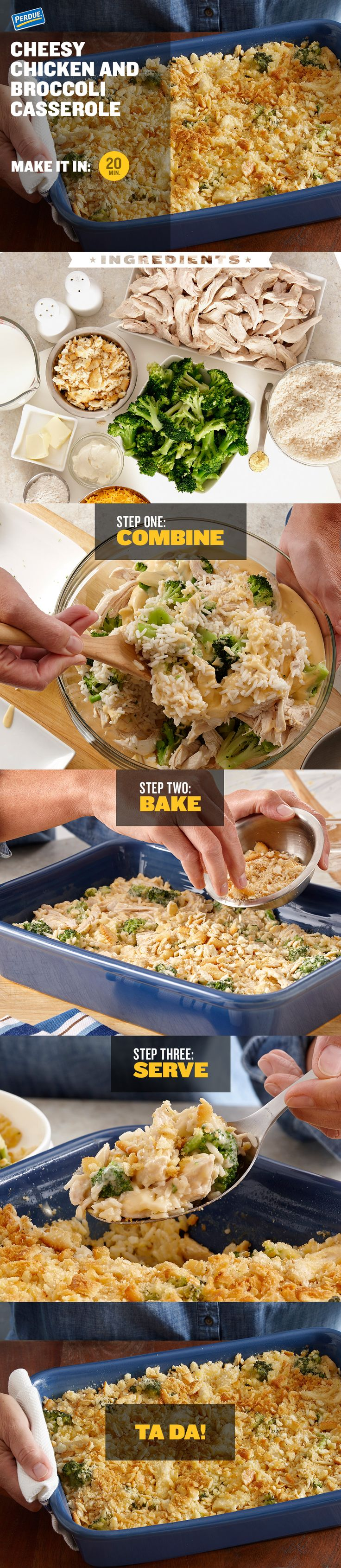 Everyone loves to warm up with a yummy casserole during the colder months. And this Cheesy Chicken & Broccoli Casserole is so tasty it'd be impossible not to go back for seconds. Yes, even the kids. If your goal is to get them to eat broccoli without complaining, this is your golden ticket. Try the recipe on a weeknight, or for a nice family meal on the weekend. Find the step-by-step instructions by clicking on the image.