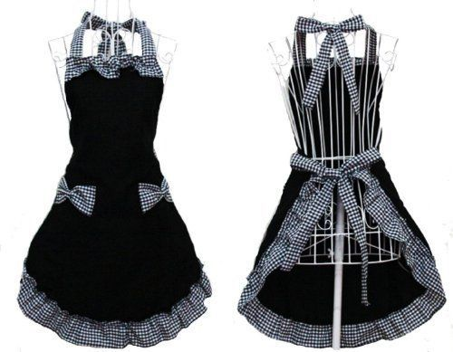 Rbenxia-Women-039-s-Apron-with-Pockets-Adjustable-Bib-Apron-with-Pockets-Extra-New
