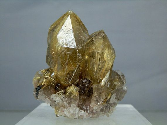 Quartz Crystal Cluster Heavily Rutilated Display Specimen Amazing Quality Display Specimen Minas Gerais, Brazil 134 grams in Weight