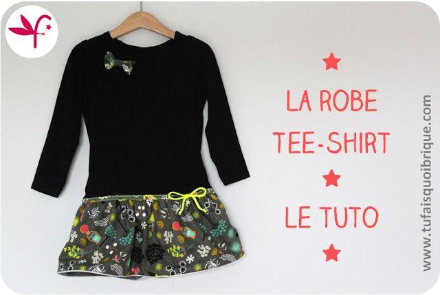 Tuto robe tee-shirt ! Niveau : débutant, Réalisation : moins d'une heure !   Tuto : http://makeri.st/tuto-robe-tee-shirt