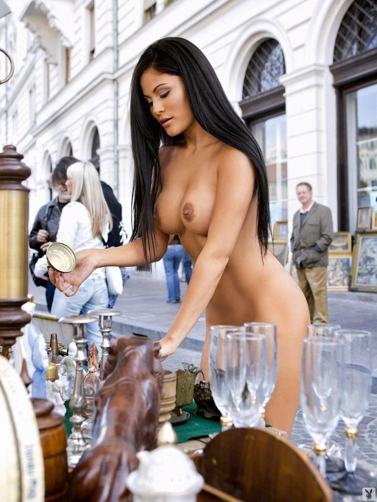 Beautiful girl naked public