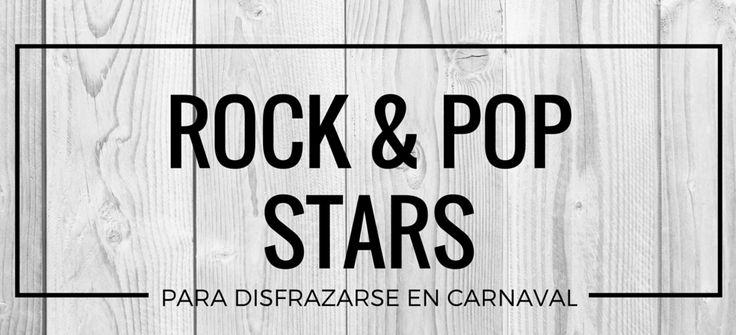 Disfrazarse de Estrellas de Rock y Pop #blog #tienda #disfraces #online #carnaval #halloween