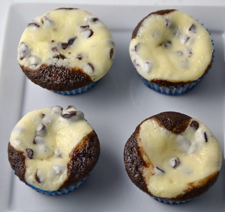 Black Bottom Mini Cupcakes