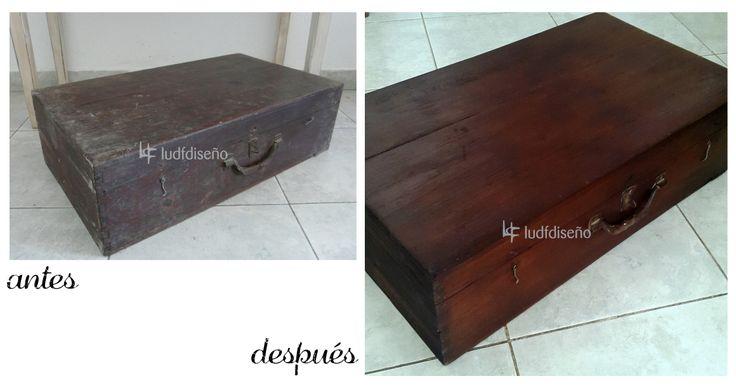 antiguo baul de madera