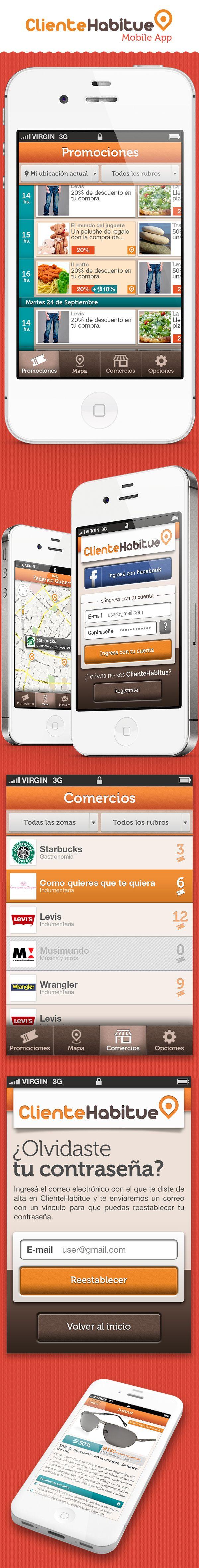 ClienteHabitue Mobile App by Nicolás Paparella, via Behance