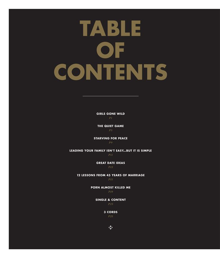 64 best design table of contents images on pinterest for Table of contents