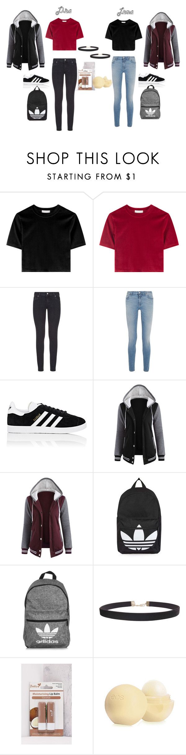 """""""Lisa and Lena °2"""" by tery-horska ❤ liked on Polyvore featuring Paige Denim, Givenchy, adidas, Topshop and Humble Chic"""
