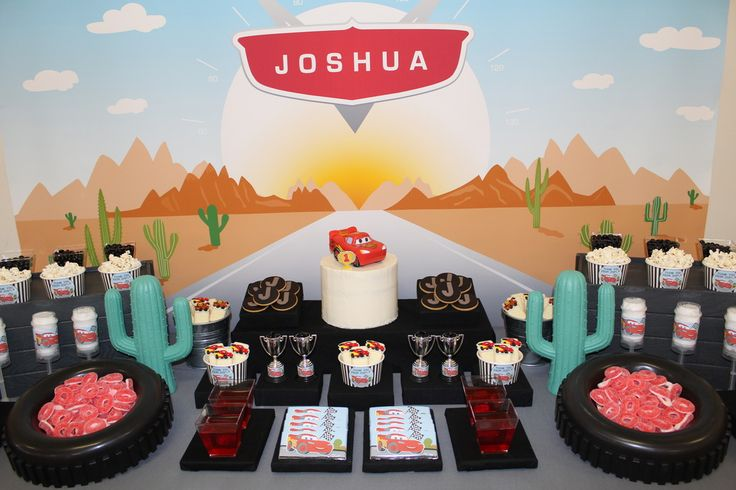Cars Inspired First Birthday Party