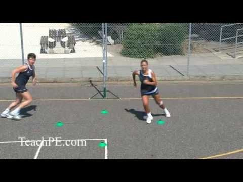 Netball Drill - Shooting - Free for Ball - The Circle Rotation Do as general drill as brings in spatial awareness