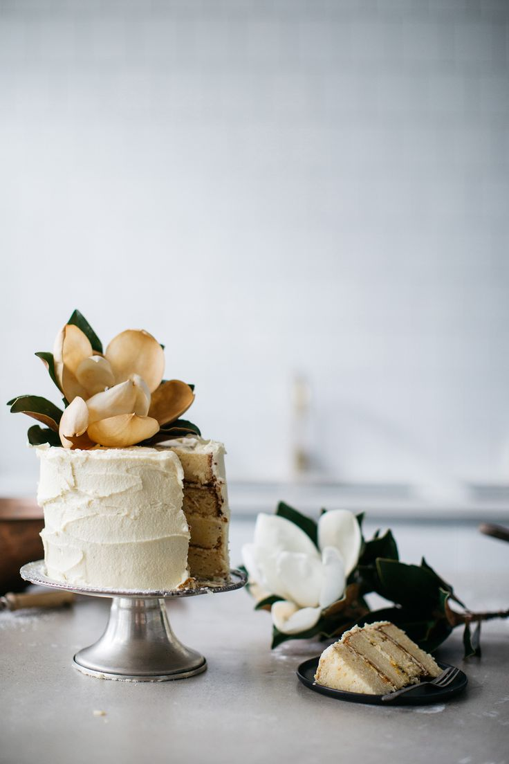 Simple Passionfruit and Buttercream Cake / Magnolia / Gillian Bell / Food Photography / Wedding Inspiration / The LANE