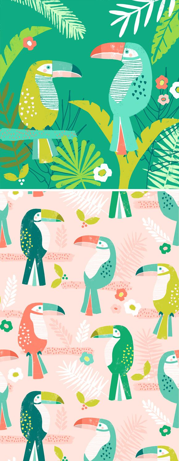 tropical toucan wendykendalldesigns