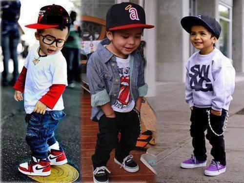 Kid skater fashion. Lookin a lil fresh