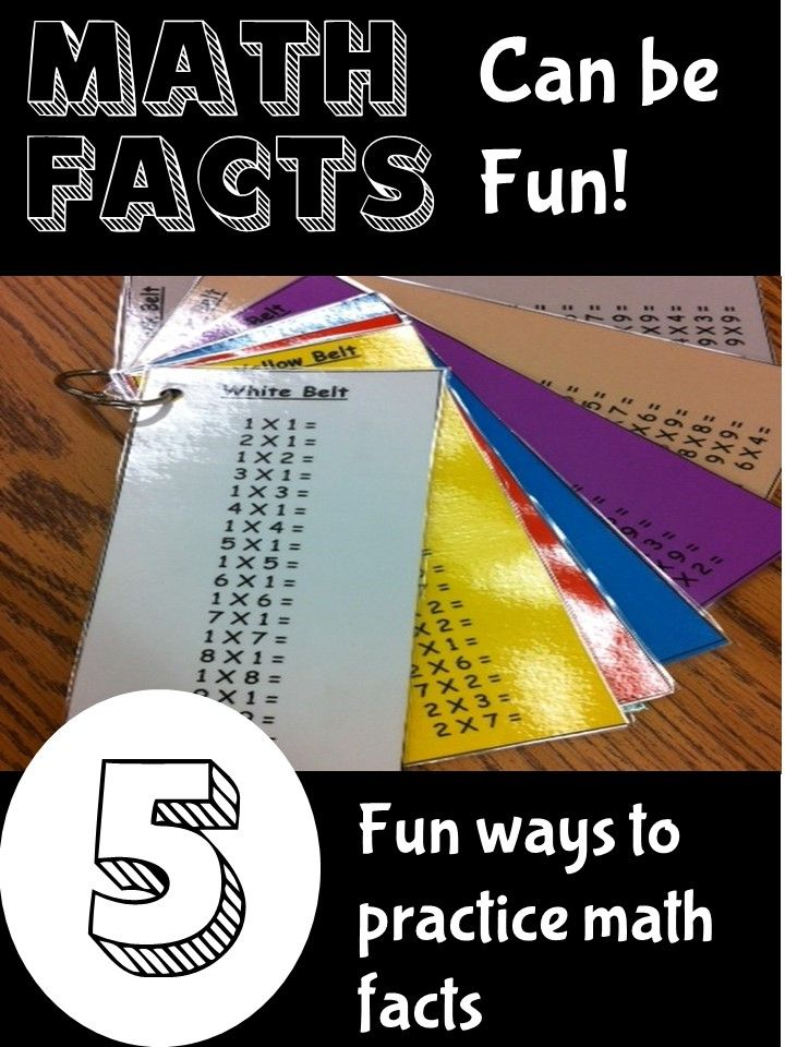 Learning Math Facts can be like pulling teeth! Check out these Math Fact ideas and activities for making practicing math facts FUN! (number 3 is my favorite)