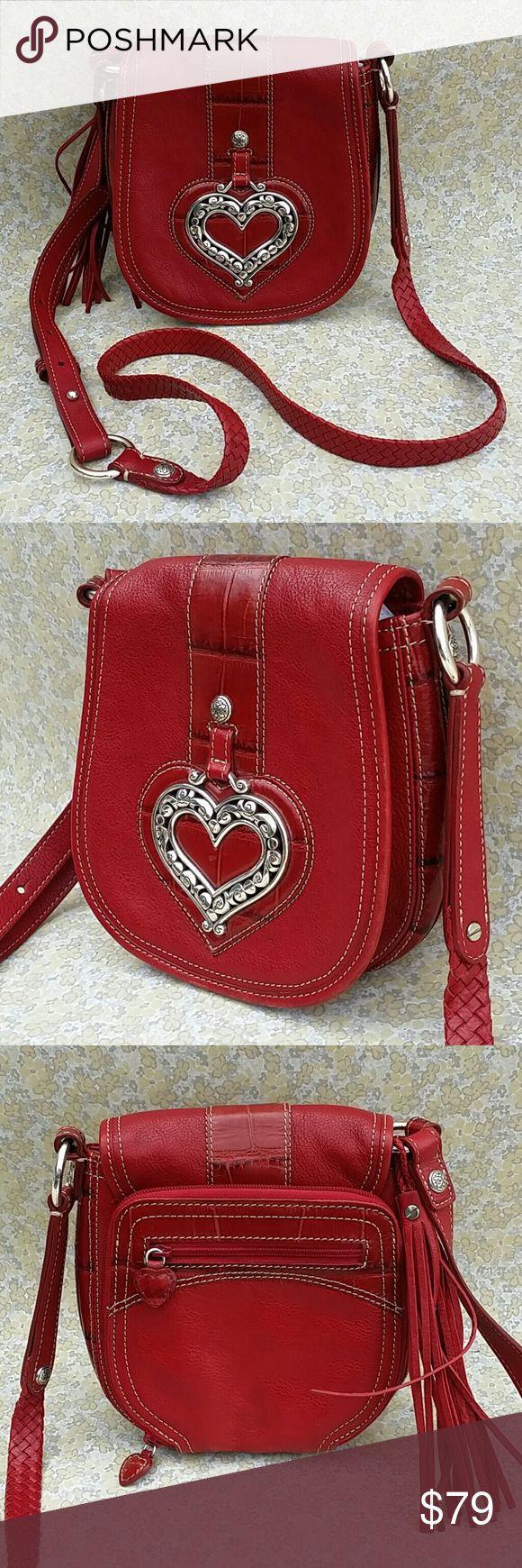 SALE Brighton Red Leather Crossbody Handbag Brighton Red Leather Crossbody Handbag Brighton Bags Crossbody Bags
