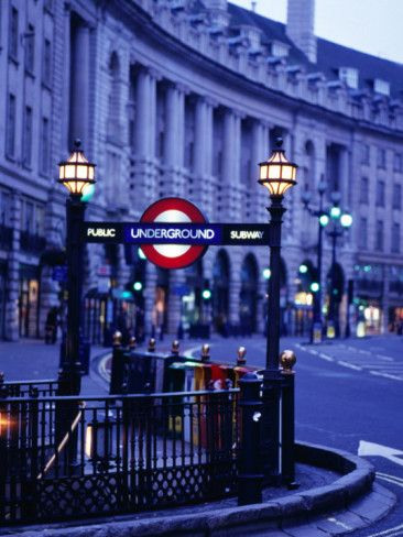 Underground Station Sign, London, United Kingdom, England Photographic Print