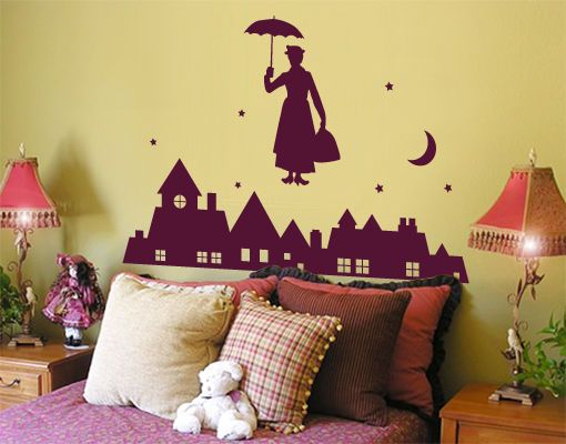 Awesome Details about Wall Decal no JS Mary Poppins Wall Sticker Wall Decal Nanny Magic London