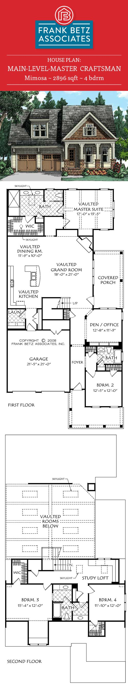 Betz house plans with large kitchen frank house plans designs ideas - Mimosa House Plan The Combination Vaulted Kitchen Dining And Living Rooms Form A Great Room In The Truest Sense Of The Word