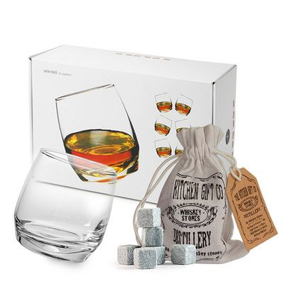 Check this out!! The Kitchen Gift Company have some great deals on Kitchen Gadgets & Gifts Whiskey Stones And Rocking Whiskey Glasses Set #kitchengiftco