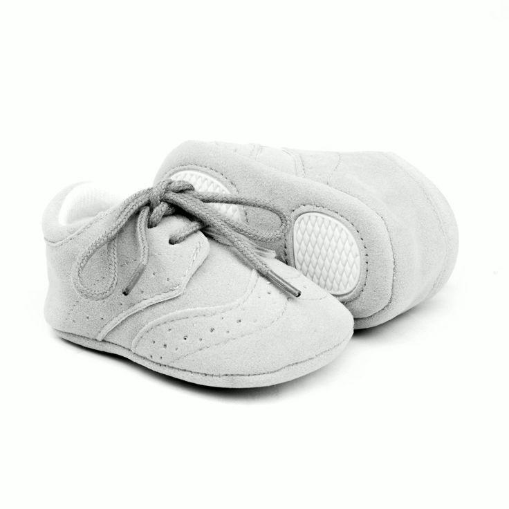 Zapatos bebes gris claro modelo Inglés (2)