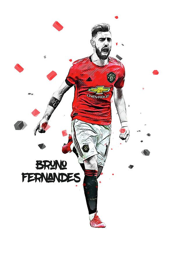 Manchester United Digital Art Bruno Fernandes By Smh Yrdbk Manchester United Team Bruno Fernandes Manchester United Fans Cool manchester united player wallpaper