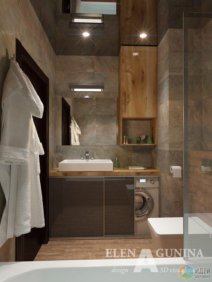 Интерьер ванной комнаты, мужской интерьер