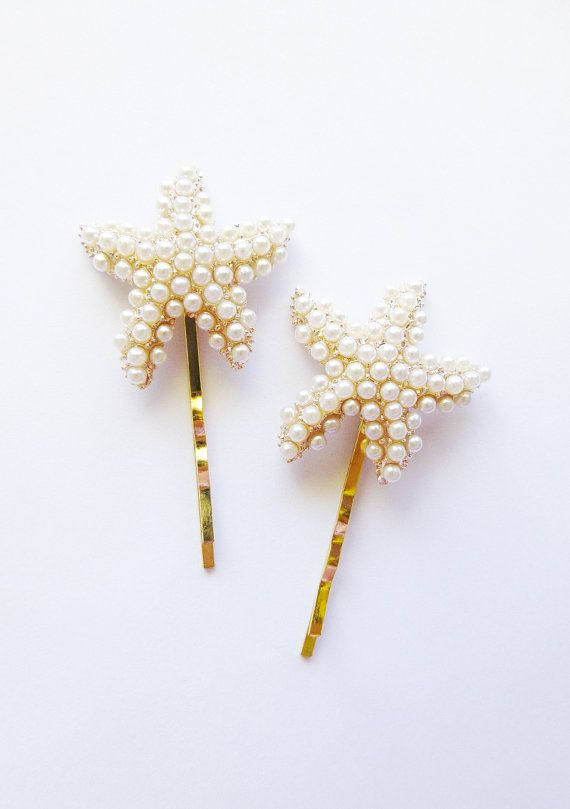 Starfish Bobby Pins Starfish Hair Pins Starfish by dreamsbythesea, $60.00   BRIDE............  THESE WITH SHELL HAIR COMBS.............. LOVE IT!!!!!!!!!!!!!!!!!!!!!!!!!!!!!!!!!!!!!!!!!!!!!!!!!!!!!!!!!!!