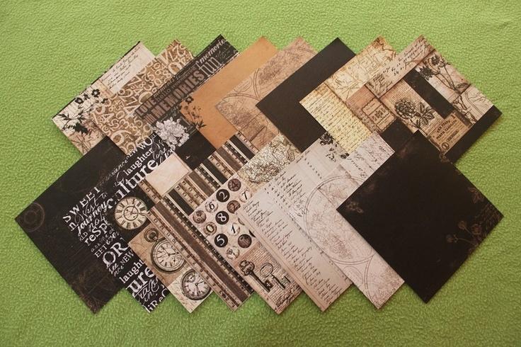 - 16 Blatt Scrapbookingpapier  - 160g/m²  - einseitig  - 15x15cm  - verschiedene Muster  - geeignet für: Karten, Tags, Geschenkanhänger, Scrapbooka...
