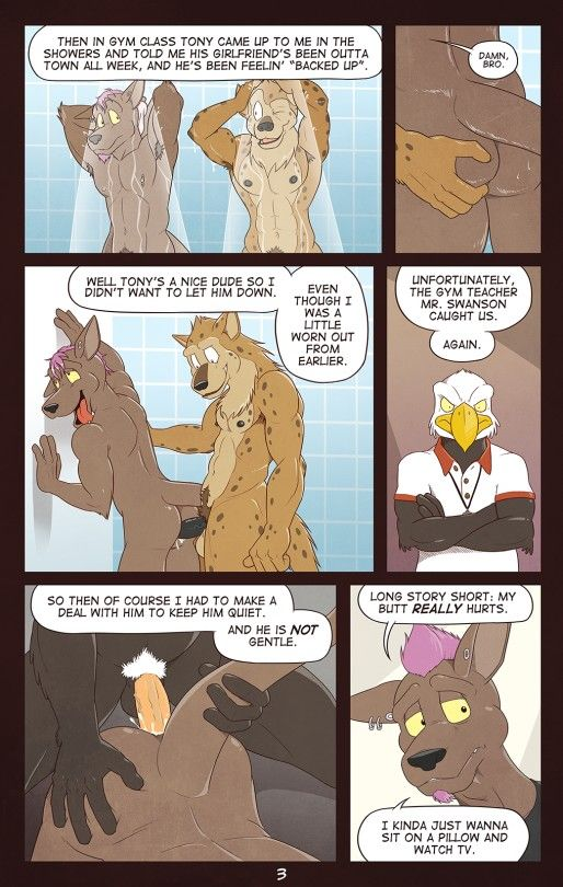 Furry comics gay in the shower
