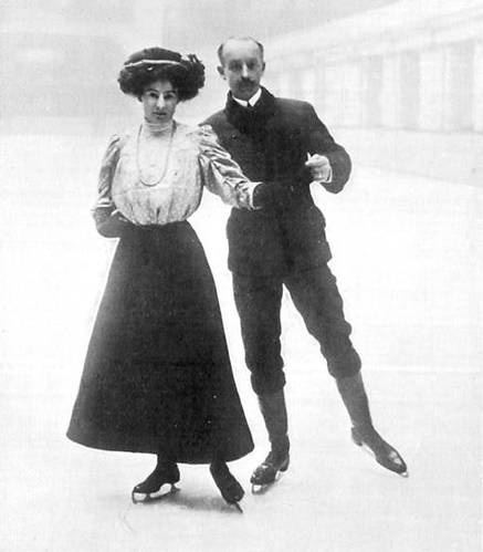 The first Olympic figure skating events were part of the 1908 Summer Olympics. British figure skater, Madge Syers, was the first Women's Olympic Figure Skating Champion. At that same Olympics, she won a bronze in the pair skating event with her husband and coach, Edgar Syers.