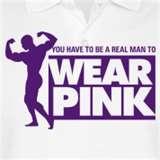 Bodybuilder man wearing pink