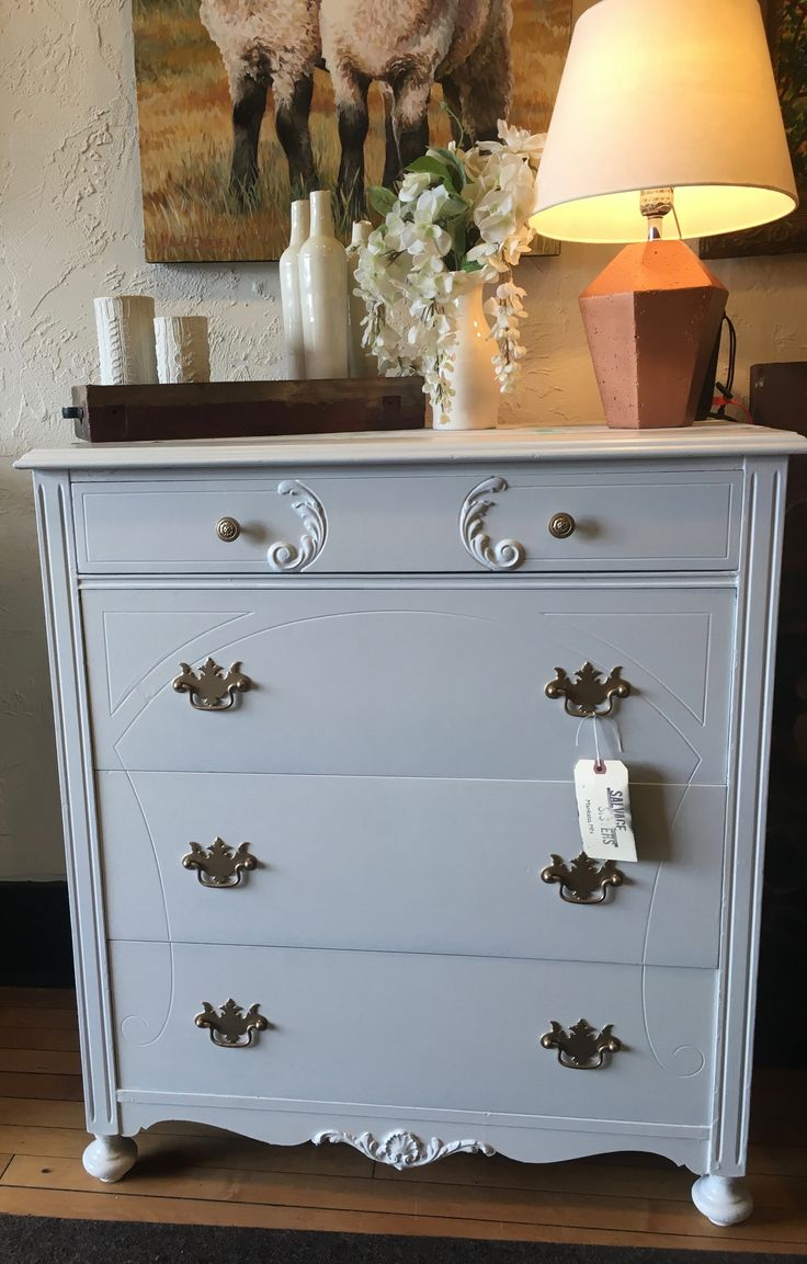 Tall, Classic Dresser Painted With Sherwin Williams Creamy. Classic  DressersPainted FurnitureSisters