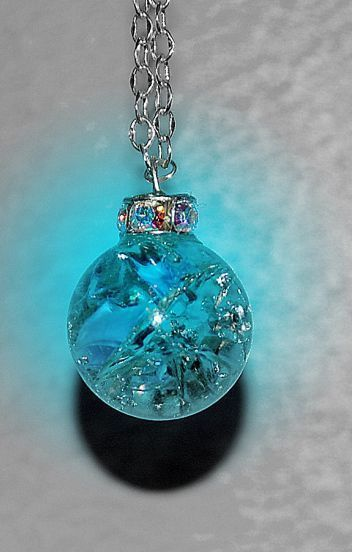 #DIY Frozen Inspired Necklace - Bake marbles at 350 F for 20 min, drop them into ice bath, and watch them crack into a pretty pattern.