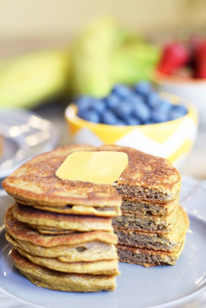 Flourless Plantain Pancakes - Only 5 ingredients and oh so yummy!