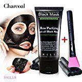 #4: SHILLS Black Mask Peel Off Mask Blackhead Remover Mask Charcoal Mask Blackhead Peel Off Mask and Brush Kit