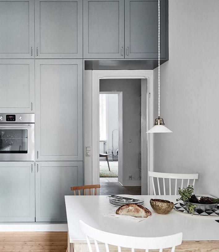 Kitchen In White And Blue Via Coco Lapine Design