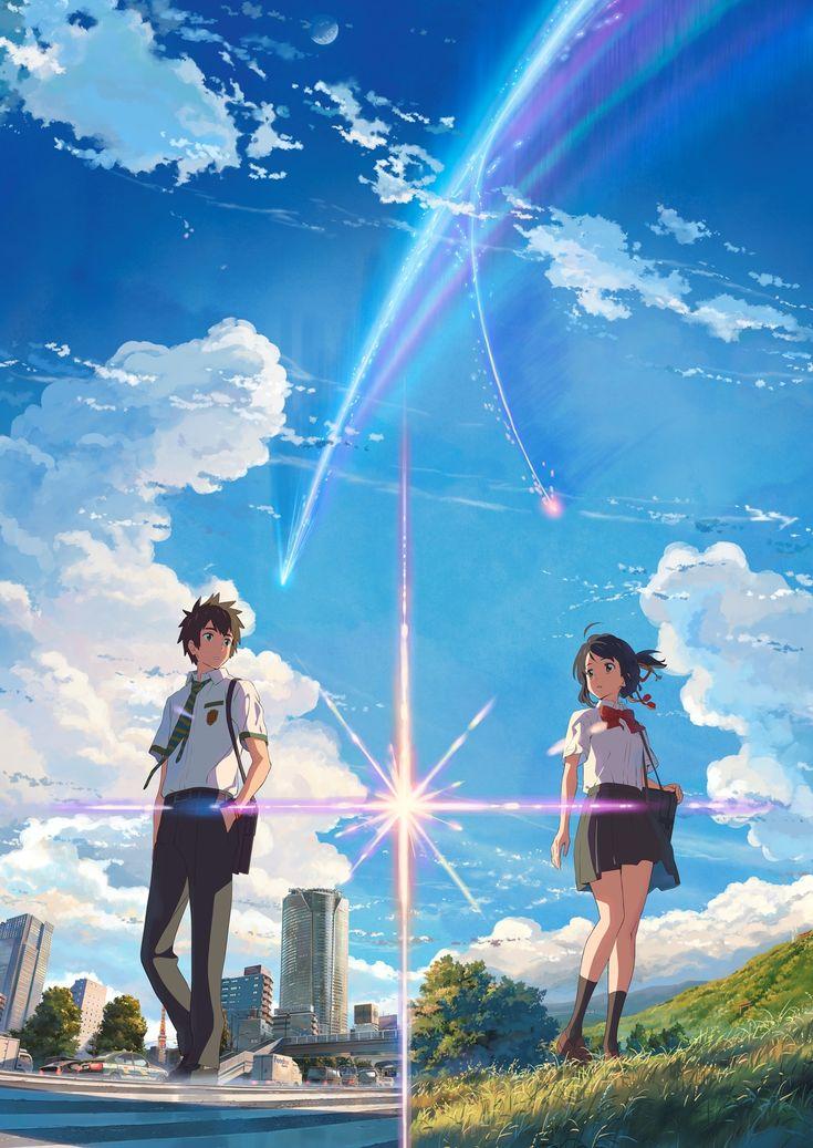 Kimi no na wa Gambar anime, Pemandangan anime, Gambar