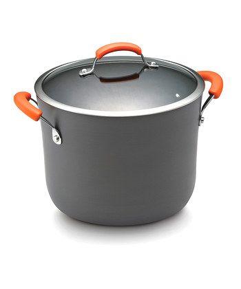Orange 10-Qt. Covered Stockpot
