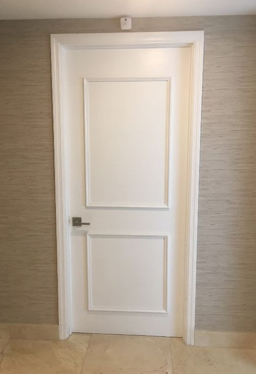 She Used Our Two Piece Door Moulding Kit To Transform The Front And Interior Doors Of Her Condo In Miami Florida Looks Awesome