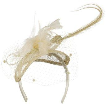 Our Natural Small Clip On Fascinator Hat is fancy headpiece that is great for you ladies' special occasions. You will look fashionable and adorned in this amazing clip on hat and you can wear it out for events like garden outings, tea parties, costume events, weddings, church, parties and others. This natural headband features meshed crown on top and this headband is decorated with natural colored feathers and comes with net with pom poms on the front, offering you classic and elegant look.