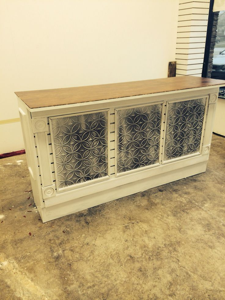 DIY reception desk, counter for bridal store. Made with ...