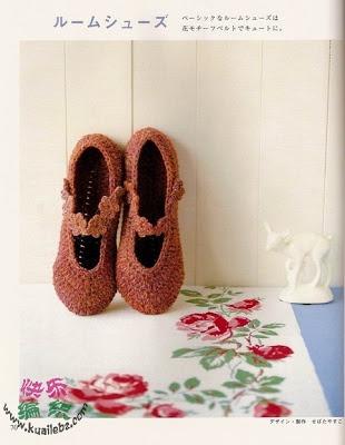 Patrones de Crochet: Artesanato Diversão, Hook, Pantufla Shoes, Crochet Shoes, Haken Crochet, Crochet Slippers, Crochet Footwear, Crochet Knits, Crochet Socks