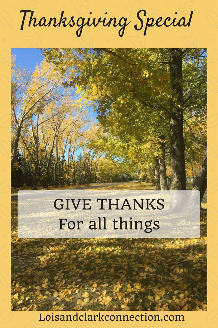 Happy Thanksgiving. Special post out today at loisandclarkconnection.com