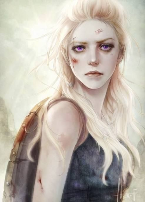 Visenya Targaryen  Eldest of the three siblings, was as much a warrior as Aegon himself, as comfortable in ringmail as in silk. She carried the Valyrian longsword Dark Sister, and was skilled in its use, having trained beside her brother since childhood.  [original art by: Alex Fang]