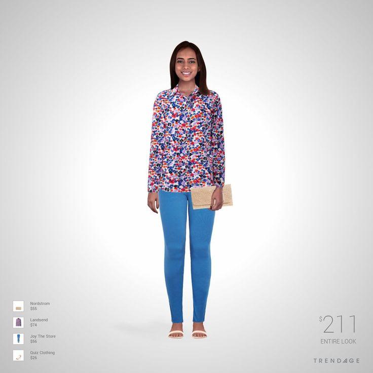 Traje de moda hecho por Karla usando ropa de Joy The Store, Landsend, Quiz Clothing, Nordstrom. Estilo hecho en Trendage