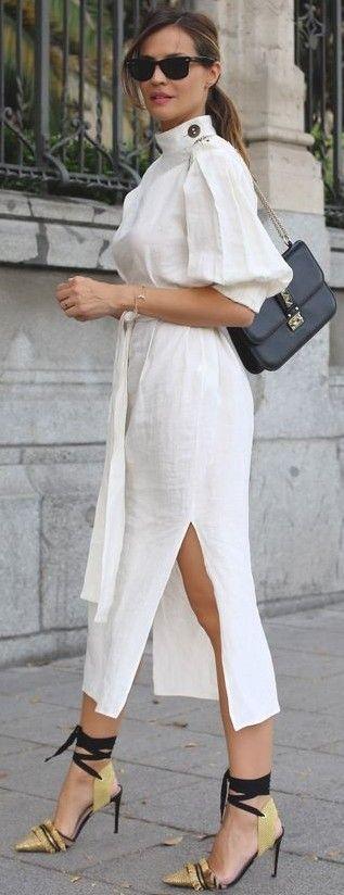 #summer #trending #outfits | White Kimono Summer Dress