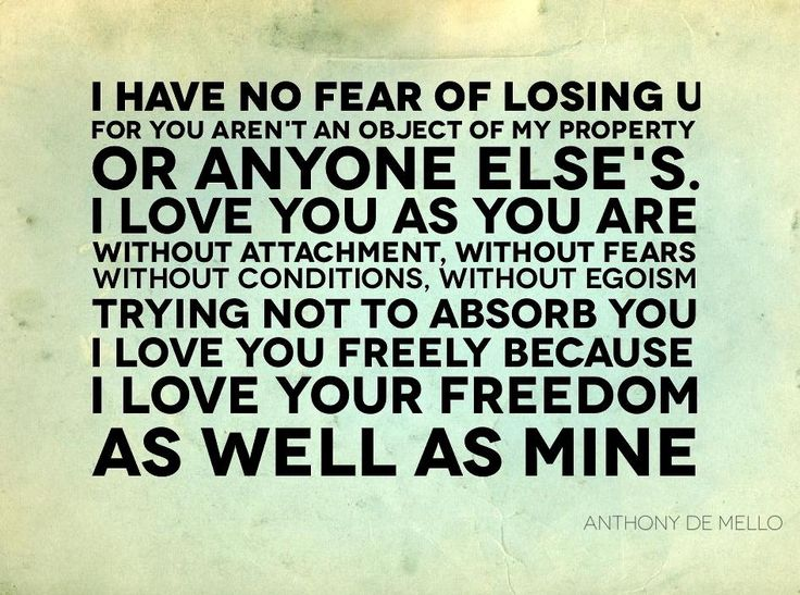 Love without freedom quotes