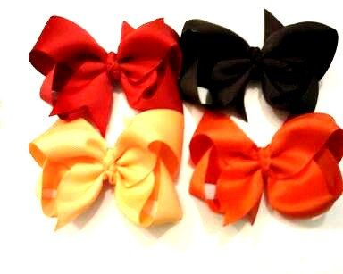 "Fall Hair Bows , Set of 4 Boutique Bows , Basic Bow Sets , 4"" Hair Bow ,  Baby , Toddler , Teen ,  Adult , Children's , Pageant , Prom by CCSBOWTIQUE2010 on Etsy"