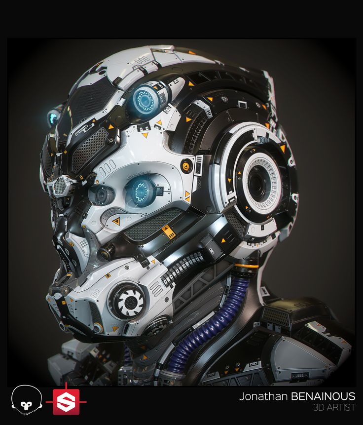 ArtStation - Sci-Fi Helmet - Real Time Version - by Jonathan BENAINOUS, Jonathan BENAINOUS