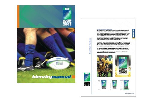 Identity Manual for Rugby World Cup 2003