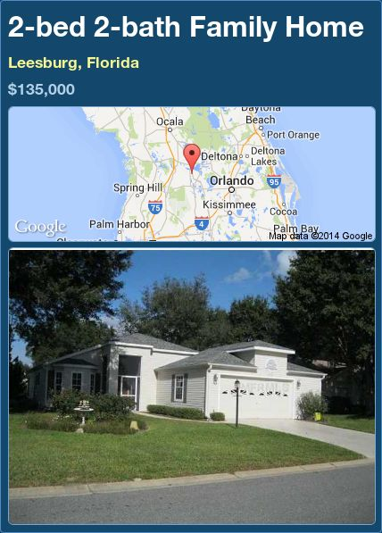 2-bed 2-bath Family Home in Leesburg, Florida ►$135,000 #PropertyForSale #RealEstate #Florida http://florida-magic.com/properties/73010-family-home-for-sale-in-leesburg-florida-with-2-bedroom-2-bathroom